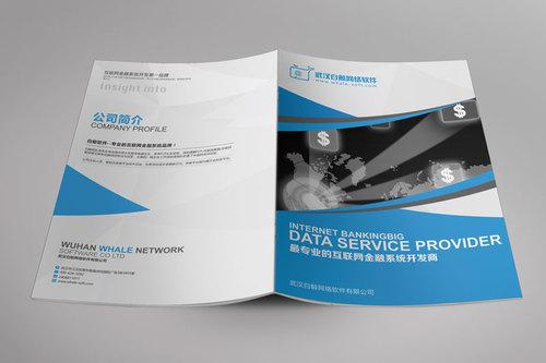 互联网公司画册大多以蓝色搭配