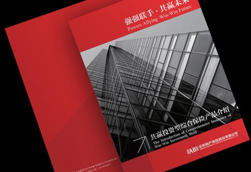 安邦保险产品宣传册设计