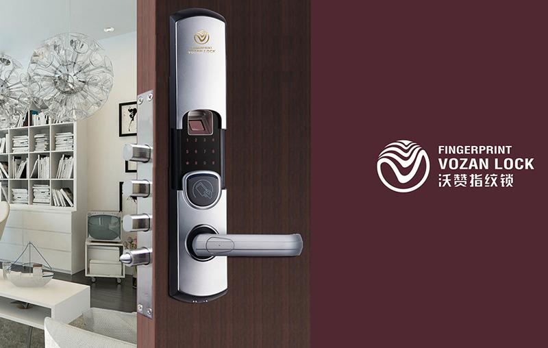 采用新元素设计指纹锁logo