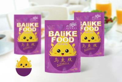 休闲食品包装设计 海产品小鱼包装设计案例