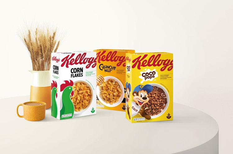 家乐氏(Kellogg's)全球第一大谷物早餐制造商发布新包装